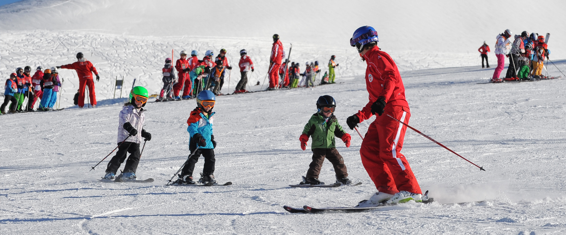 family-friendly kids ski school in Leukerbad